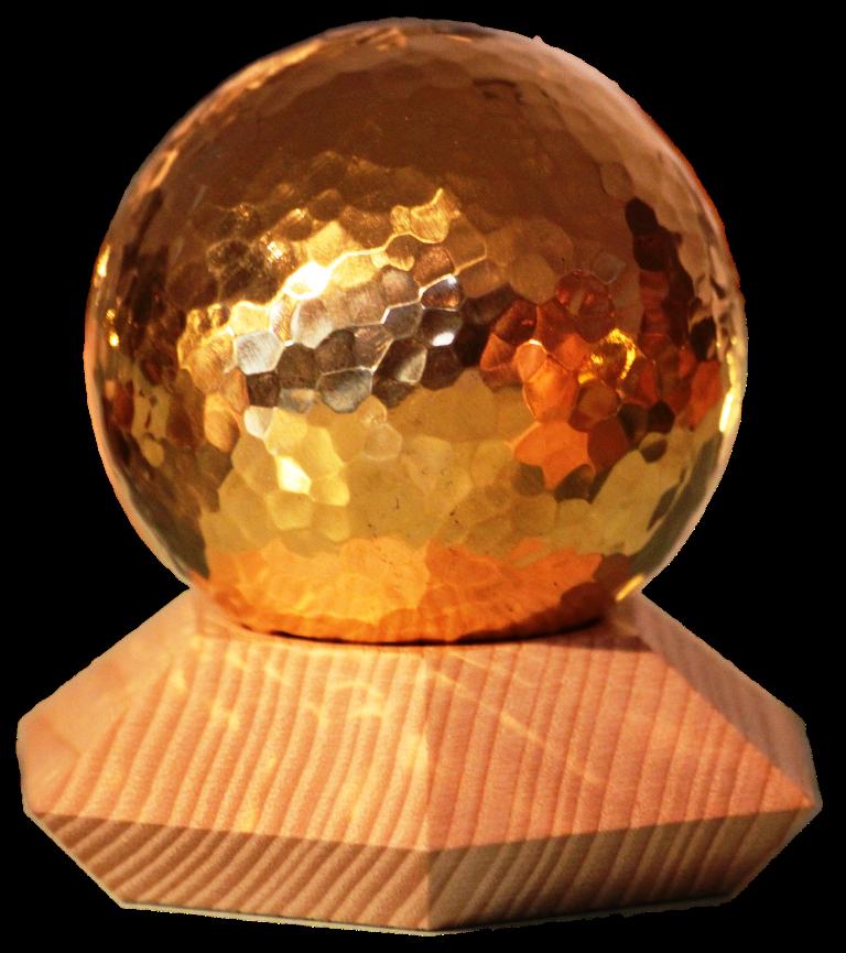 Gold Kugel mit Ständer Esche